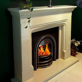 Miguel Carved Marble Fireplace
