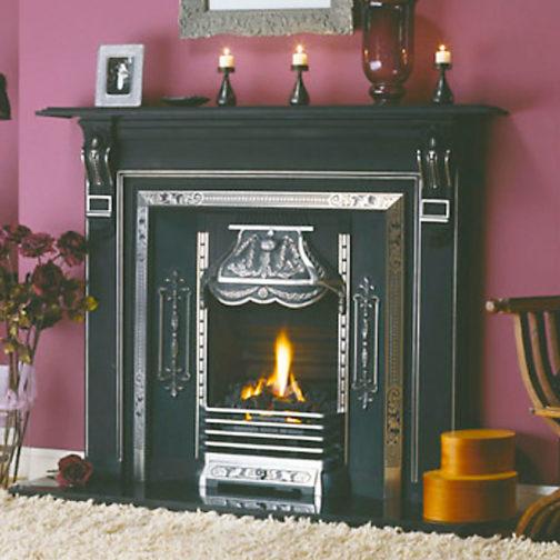 Pineapple Cast Iron Fireplace