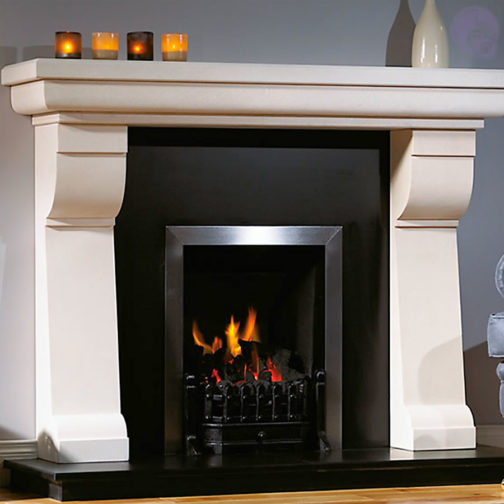 The Tudor Corbell Marble Fireplace