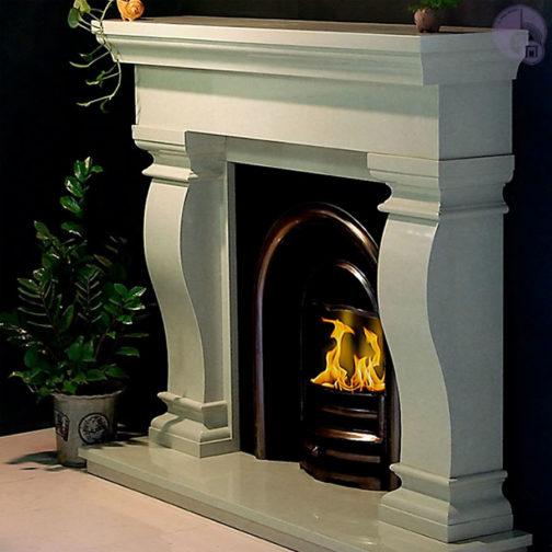 Van Gogh Marble Fireplace