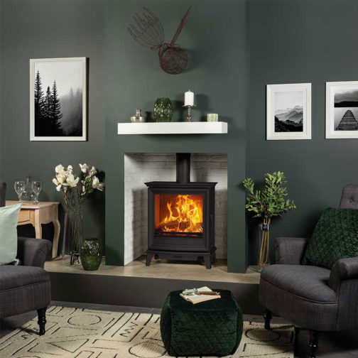 Chesterfield 5 Wide Wood Burning Stoves & Multi-fuel Stove