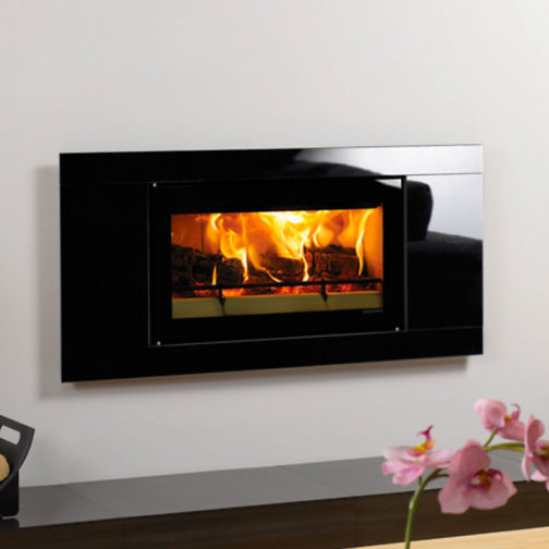 Studio Glass Inset Wood Burning Fire